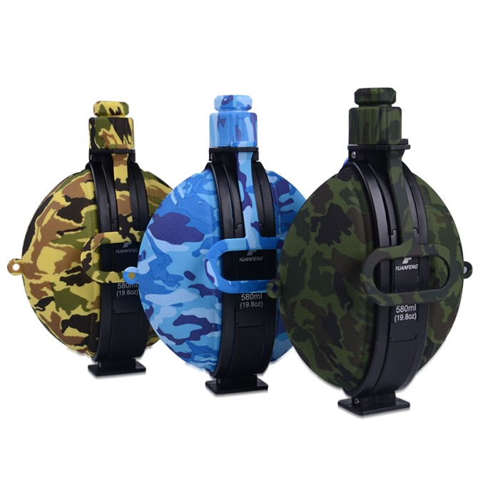 580ml Collapsable Flasks – Camo