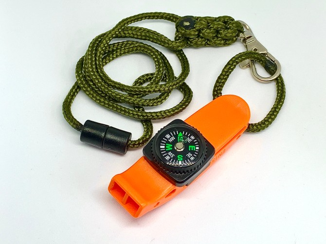 OAS - Emergency Whistle with Lanyard and Compass